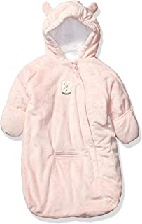 Carter's Baby Girls Bundle Up Cozy Pram with Ears, Pink Bunny Bag, 0/6 Months