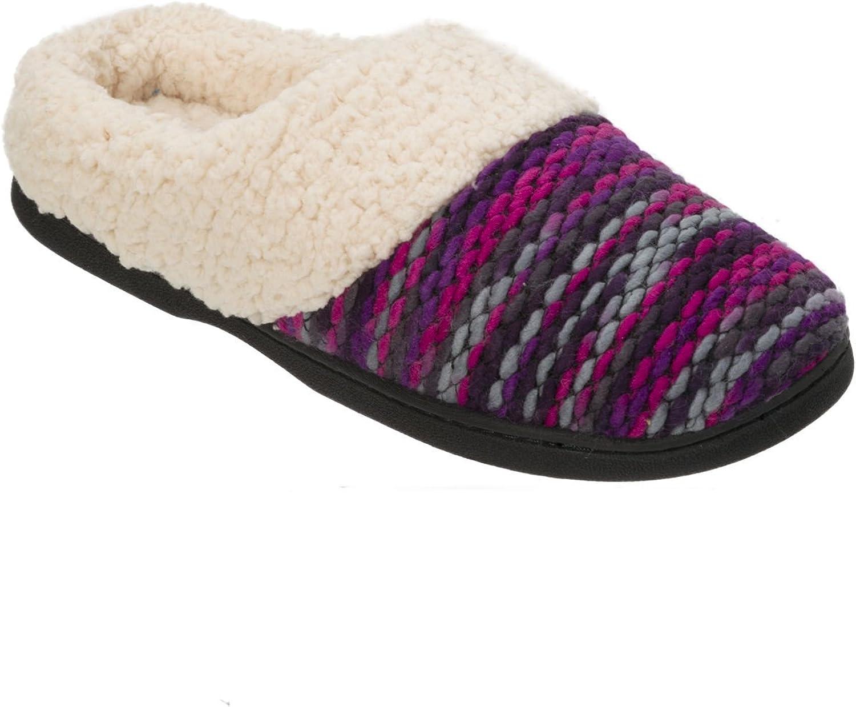 Dearfoams Textured Sweater Knit Clog