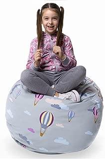 Kenley Bean Bag Stuffed Animal Storage - Fun Gifts for Boys and Girls - Large Stuffed Animal Bean Bag Chair
