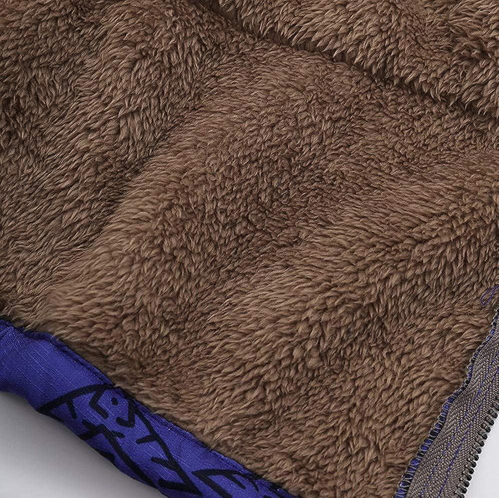 Lulupi Damen Winterjacke Große Größe Kapuzenjacke Lang Hoodie Frauen Warm Reißverschluss Dicke Teddyfutter Jacke Sweatjacke Oversized Outwear Kapuzenpullover A-blau