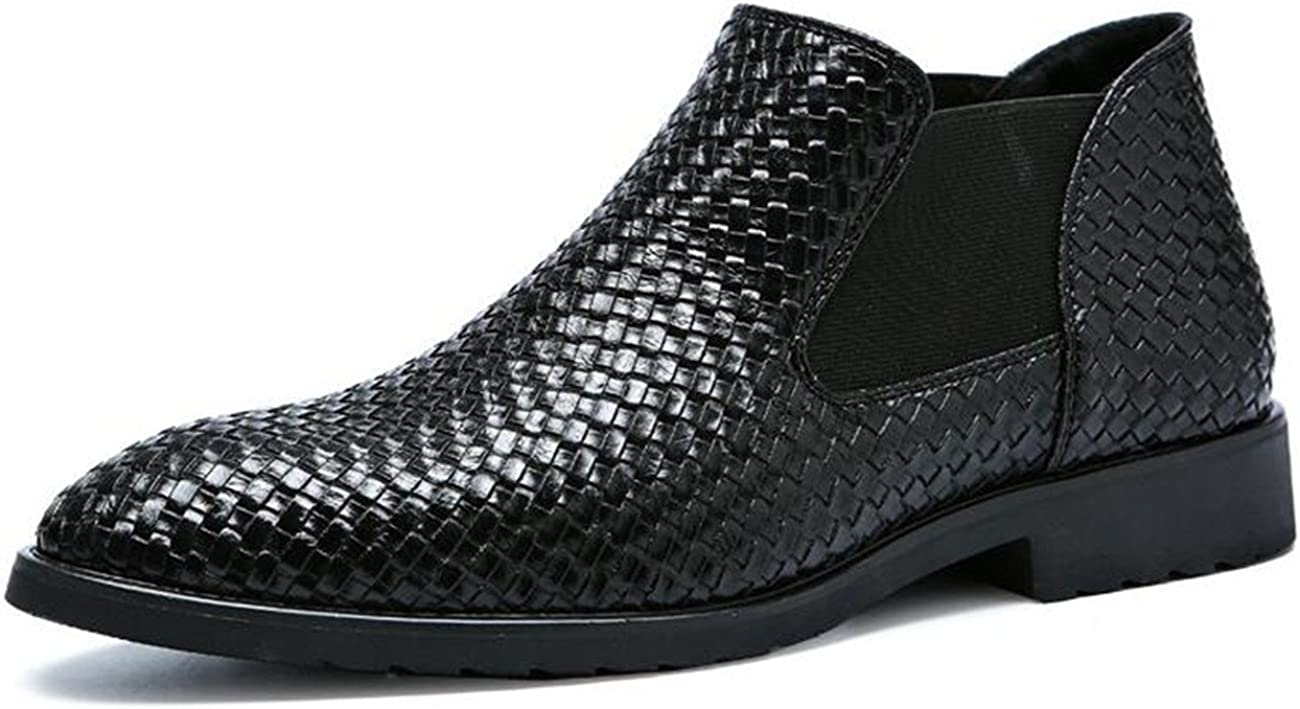 High material safety XIUWU Men's Fashion Oxford Boots Ons Ankle for Slip Men