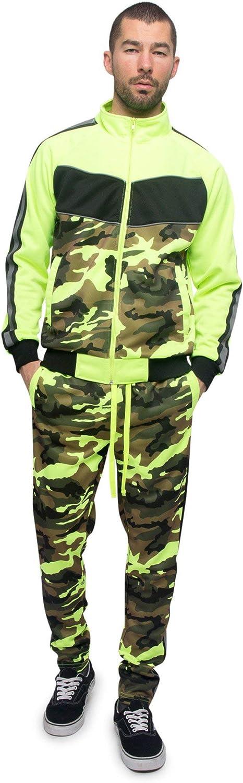 G-Style USA Men's Zipper Jacket Drawtsring Waistband Sweatpants Tracksuit Set
