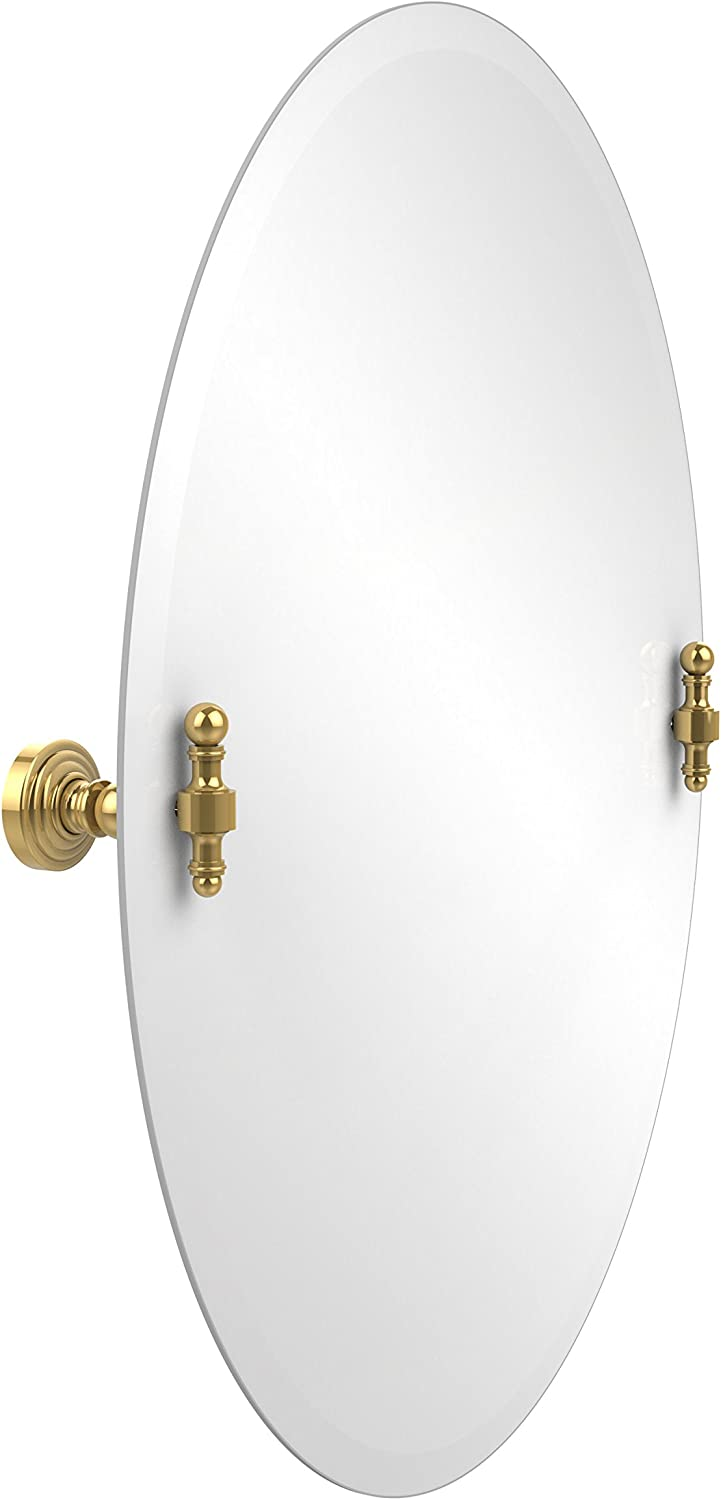 Allied Brass RW-91-PB 21-Inch x 29-Inch Oval Tilt Mirror, Polished Brass