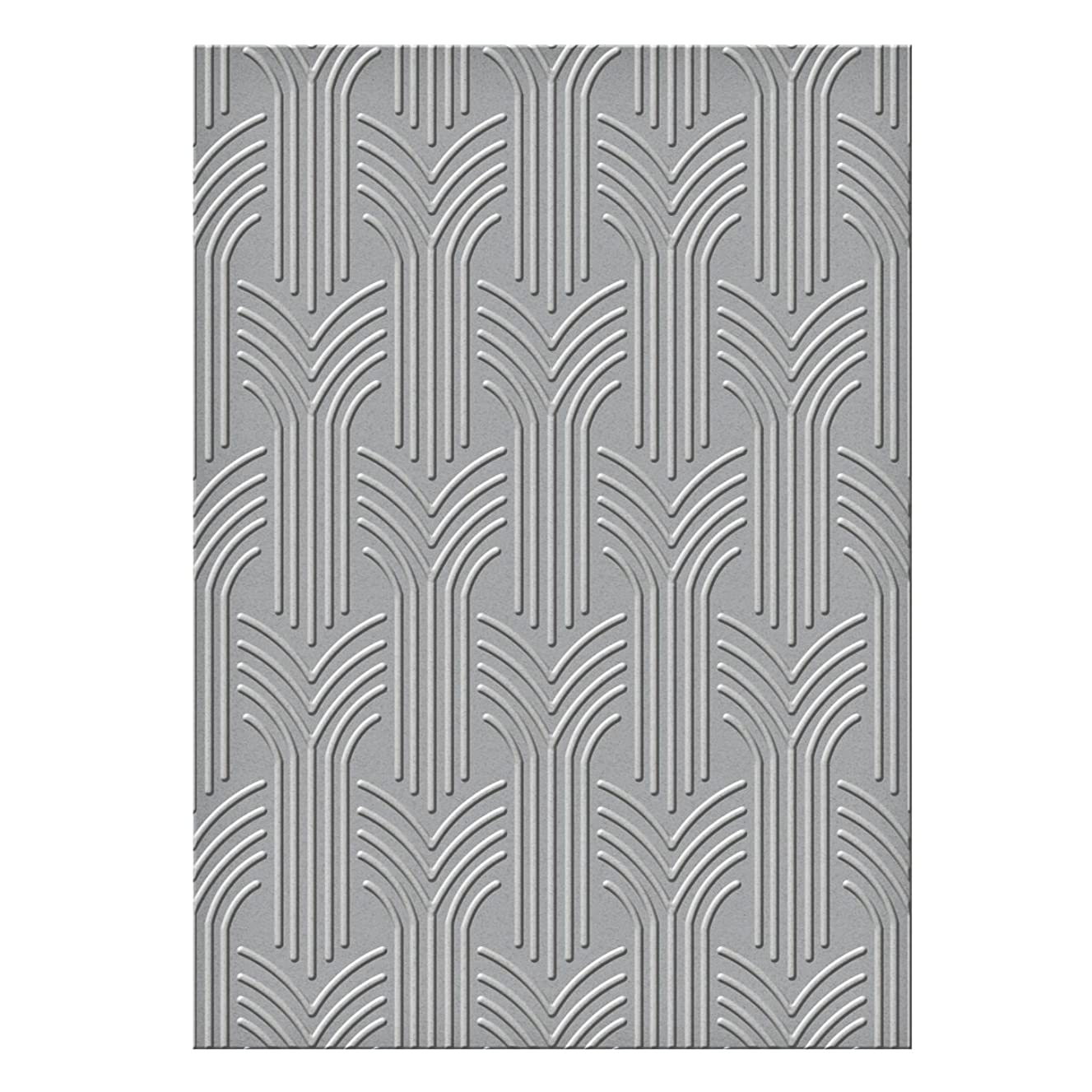 Spellbinders S6-069 Arched Arrows Texture Plate