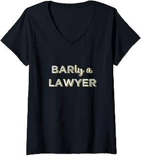 Womens Future Lawyer Bar Exam Taker Pun V-Neck T-Shirt