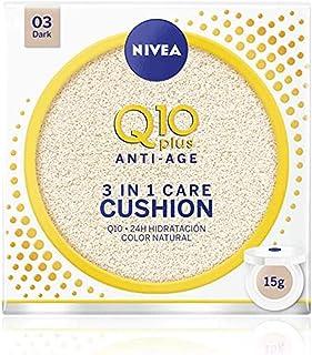 NIVEA Q10 3en1 Cushion Tono Oscuro (1 x 15 ml) perfeccionador facial cuidado facial hidratante y antiedad con protector ...