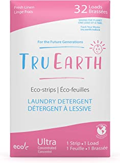 Tru Earth Hypoallergenic, Eco-friendly & Biodegradable Plastic-Free Baby Laundry Detergent Eco-Strips for Sensitive Skin (...