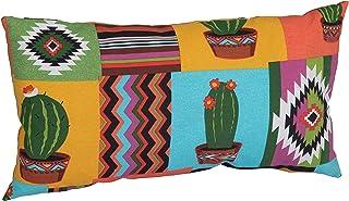 Beo ZK 60 x 30 BE912 Mexico Lounge Coussin décoratif pour Meubles de Jardin en rotin Orange/Jaune/Turquoise 60 x 40 cm