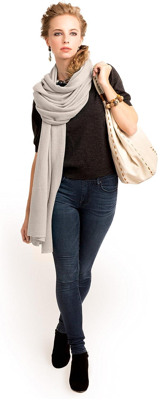 Anna Kristine Oversized Pure 100% Cashmere Scarf Shawl Wrap  Simply Beige