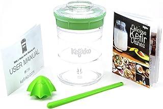 (Green) - KEFIRKO - Kefir Fermenter Kit - Easily Brew Your own Milk Kefir and Water Kefir - Green