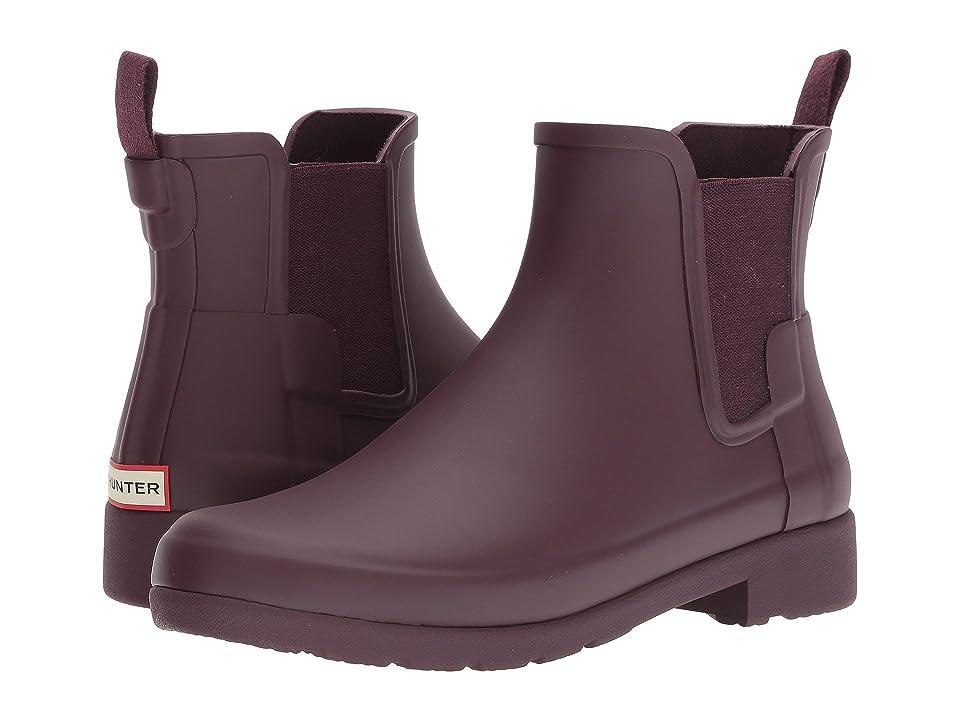 Hunter Original Refined Chelsea Boots (Oxblood) Women
