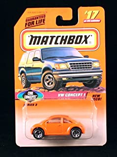 Matchbox VW Concept 1 Orange Cool Concepts Series 3 1998 Basic Die-Cast Vehicle (#17 of 75)