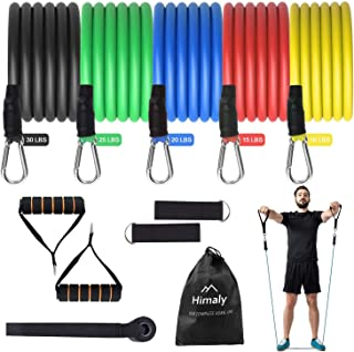 Mbuynow Resistance Bands, Exercise Bands Set of 5 Ankle Tube Bands Strength Training Fitness Tension Straps...
