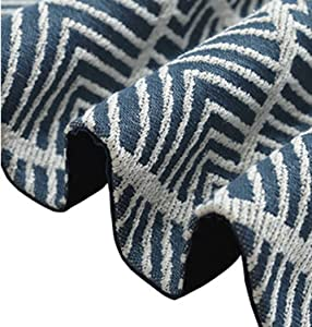 LivebyCare Multi-Size Geometric Table Runners with Tassels Navy Elegant Modern Fall Table Runners for Home Decoration 63 Inches for Dresser Tea Table Decoration