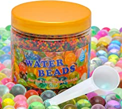 FansArriche Water Beads for Kids Non-Toxic Water Sensory Toy for Kids Counting Skill Development, 12 OZ Growing Beads with Measuring Spoon