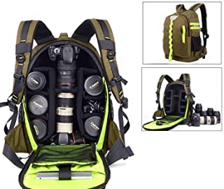 Abonnyc DRLBP-CZ Waterproof Anti-Shock Backpack for DSLR and SLR Cameras (Green)