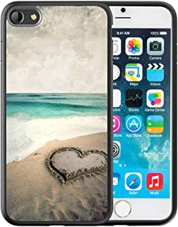iPhone 6S Plus Case, Customized Black Soft Rubber iPhone/Apple 6/6S Plus Case Beautiful beach with love