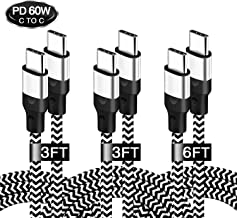 Usb C To USB C Charger Cable Cord For Pixel 4 3A 3 2 XL,Samsung Galaxy Note 10 S10+ Note10+ LG G7 G8 Thinq V40 V50,Google 3AXL 3XL 4XL,Pixel3,Razer Phone 2,60W PD Fast Charge Charging Wire 3FT 3FT 6FT