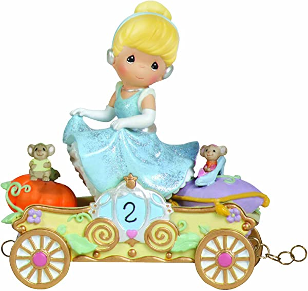 Precious Moments Disney Showcase Collection Bibbidi Bobbidi Boo Now You Re Two Disney Birthday Parade Age 2 Resin Figurine 104404