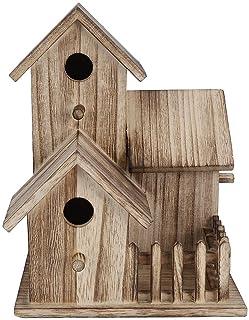 صندوق تعشيش للطيور من إس إف جي دي خشبي لبيت الطيور في الهواء الطلق صغير لتزيين مستلزمات بيت الطيور والحيوانات الأليفة