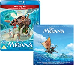 Moana (3D + 2D) - Walt Disney Movie and Soundtrack Bundling - Blu-ray and CD