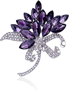 purple brooches and pins