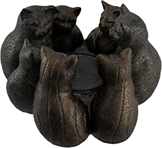Zeckos Kitty Cluster Circle of Cats Candle Holder
