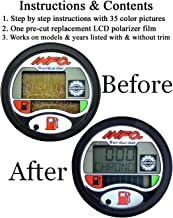 Compatible With SEA-DOO Repair Kit for LCD Info Gauge Center Display (Fits MANY 1996-05 GTX GSX GTI LRV RX XP/LTD DI RFI, See Ad For Exact Model & Year Fit, Includes Diffuser Film & Directions ONLY