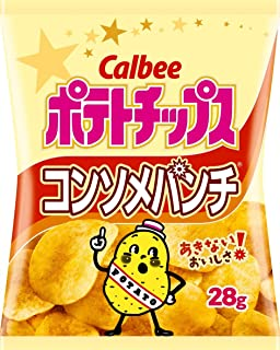 CALBEE Potato Chips Consomme Punch 28g (24-pack)