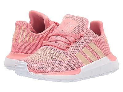 adidas Originals Kids Swift Run I (Toddler) (Tactile Rose/Copper/Black) Girls Shoes