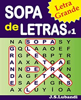 SOPA de LETRAS #1 (Letra Grande) (Spanish Word Search in Large Print