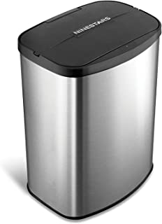 Nine Stars DZT-8-1c Infrared Touchless Stainless Steel Trashcan