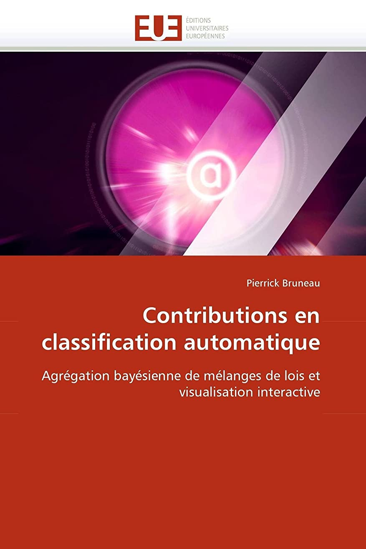 地下ジャケット海Contributions En Classification Automatique (Omn.Univ.Europ.)