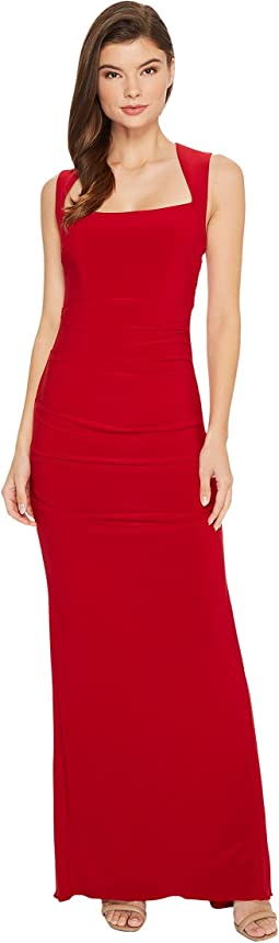 Adrianna Papell - Sleeveless Side Ruched Jersey Gown