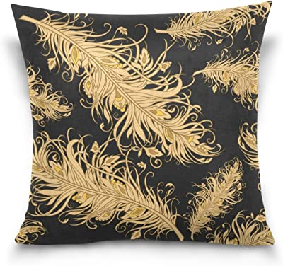 Vintage Art Nouveau Swirly Vines with White Flowers and Blue Leaves Botanical Floral Art 3dRose Dooni Designs Vintage Art Nouveau Designs 16x16 inch Pillow Case pc/_113460/_1