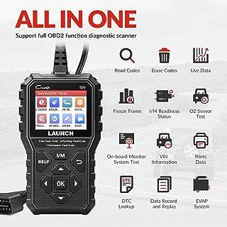 Launch OBD2 Scanner CR529 Leitor de código de veículo, luz de verificação do motor, ferramenta de varredura de diagnóstico...
