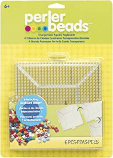 Best Perler Beads Large Square Pegboards for Kids Crafts, 4 pcs Review