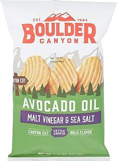 Boulder Canyon, Chips Potato Canyon Cut Avocado Oil Vinegar N Salt, 5.25 Ounce