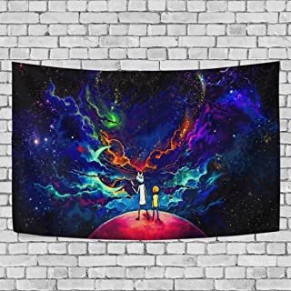 FASHIONDIY Starry Rick Morty Tapestry Wall Hanging Decoration for Apartment Home Art Wall Tapestry for Bedroom Living Room Dorm Fashion 60 x 51 inches