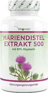 Mariendistel Extrakt 180 Kapseln mit je 500 mg – 80% Silymarin Anteil – 6..