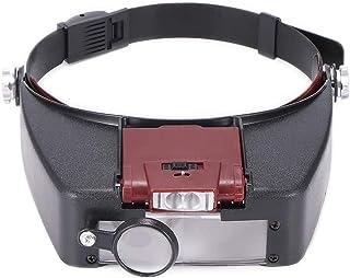 JJDSN ヘッドバンド拡大鏡LEDライト1.5X3.5X 8.5X10Xヘルメットスタイルルーペ顕微鏡読み取りまたは修理使用