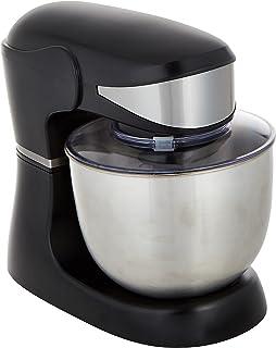 DMS KM-1500 Food Processor Mixing Machine 5 Litres Stainless Steel Bowl Splash Guard Dough Kneader 6 Speed 1500 Watt, black