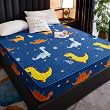 Fits Mattress Perfectly,Three-Piece Cotton Printed Waterproof Bed Sheet Set,Single or Double for The Elderly and Children-...