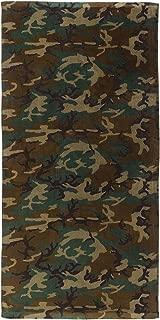 Rothco Beach Towel - Military Insignia, Woodland Camo