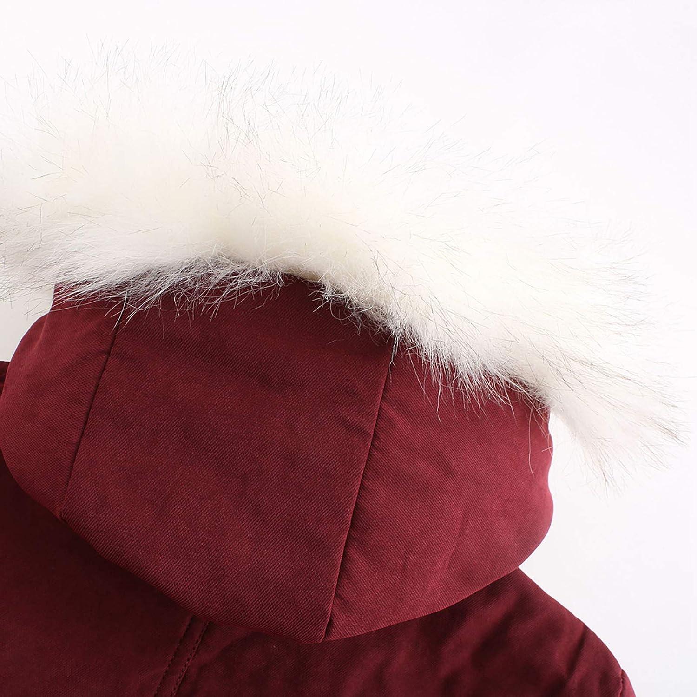 toasye Winter Jacke Damen, Premium-Jacken Winterjacke Damen Lang Mantel Winterjacke Warm Gefüttert Winter Verdickung Wein