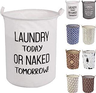 LessMo 50 cm tvättkorg, hopfällbar förvaringskorg med enkla bärhandtag, vattentät rund bomullslakan, för babyprodukter, le...