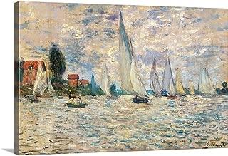 GREATBIGCANVAS Gallery-Wrapped Canvas Regattas at Argenteuil, by Claude Monet, ca. 1874. Musee D'Orsay, Paris, France by Claude Monet 36