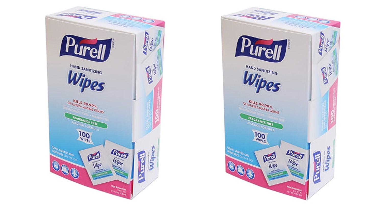 GOJO : PURELL Brand Limited price sale new Premoistened Sanitizing Hand Box 5 100 Wipes 7 x