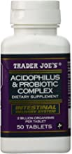 Trader Joes Acidophilus and Probiotic Complex, 50 Tablets, 2 Billion Organisms Per Tablet