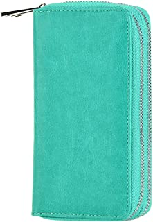 LOEL Women Premium PU Wallet Dual Zippered Clutch Purse